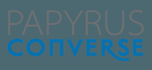 Papyrus Converse logo 2line